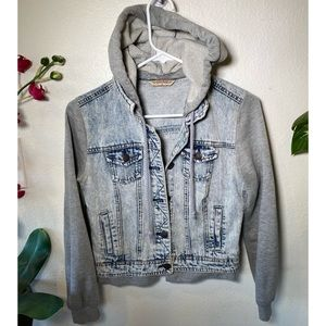 HIGHWAY JEANS * Hooded Jean JACKET - Size Small